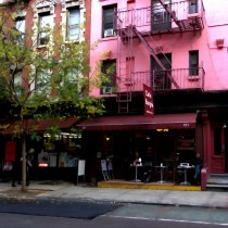 NY Streets - Cafe Borgia II SOHO Large Size Digital Painting