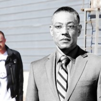 """""""Gus"""" Fring and Jesse Pinkman Large Size Digital Painting"""