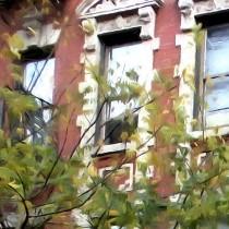 Details of NY Streets - Cafe Borgia II SOHO Large Size Digital Painting