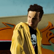 Detail of Jesse Pinkman and Chevy Monte Carlo Large Size Digital Painting