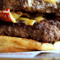 Detail of Burger - Fast food Series Large Size Digital Painting
