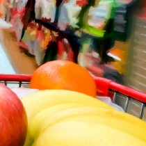 Detail of Shopping #1 Large Size Digital Painting