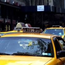 NY Streets - Yellow Cabs #2 Large Size Digital Painting