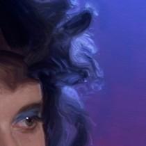 Detail of Blue Velvet #1 Large Size Painting