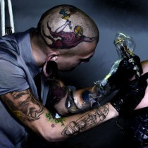 Tattooing #1 Large Size Painting