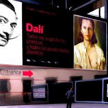 Salvador Dali Tribute Large Size Painting