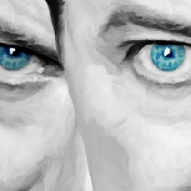 Detail of David Bowie #4 Large Size Painting