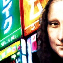 Detail of Gioconda Travelling #1 Large Size Painting