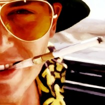 Detail of Fear and Loathing in Las Vegas #1 Large Size Painting