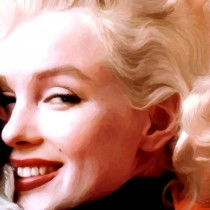 Detail of Marilyn Monroe Portrait #4 Large Size Portrait