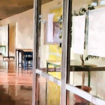 Detail of School Closed for Summer Holidays Large Size Painting