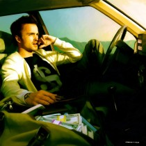 Jesse Pinkman with Money Large Size Painting
