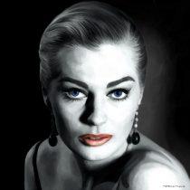 Anita Ekberg Portrait #1 Large Size Painting