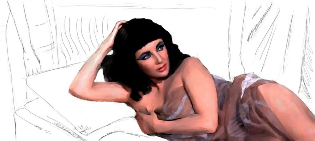 Elizabeth Taylor @ Cleopatra – Work in Progress