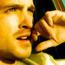 Detail of Jesse Pinkman with Money Large Size Painting