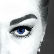 Detail of Anita Ekberg Portrait #1 Large Size Painting