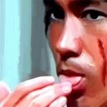 Detail of Bruce Lee @ Enter the Dragon #1 Large Size Painting