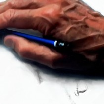 Detail of Clint Eastwood @ Absolute Power Large Size Pinting