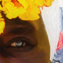 Detail of Caribbean Series #6 Large Size Painting