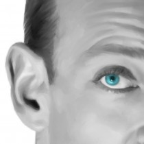 Detail of Fred Astaire Portrait #1 Large Size Painting