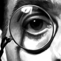 Detail of Jeremy Irons Portrait #1 Large Size Portrait