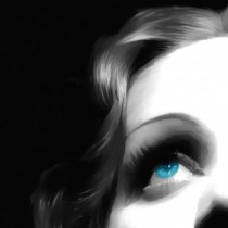 Detail of Marlene Dietrich Portrait #1 Large Size Painting