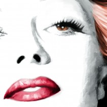 Detail of Rita Hayworth Portrait #1 Large Size Painting