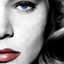Detail of Lauren Bacall Portrait #1 Large Size Painting