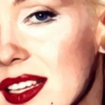 Detail of Marilyn Monroe Portrait #10 Large Size Painting