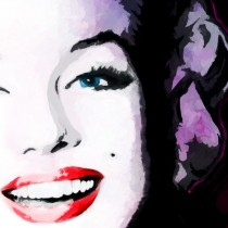 Detail of Marilyn Monroe Portrait #9 Large Size Painting