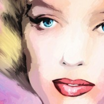 Detail of Marilyn Monroe Portrait #8 Large Size Painting