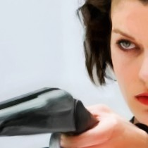 Detail of Milla Jovovich @ Resident Evil Large Size Painting
