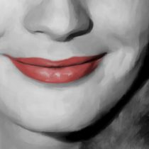 Detail of Romy Schneider Portrait #1 Large Size Painting