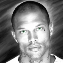 Jeremy Meeks Portrait #1 Large Size Painting