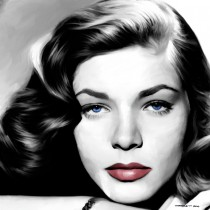 Lauren Bacall Portrait #1 Large Size Painting