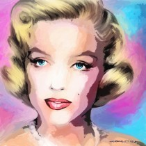 Marilyn Monroe Portrait #8 Large Size Painting