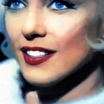 Marilyn Monroe Portrait #7 @ Something's Got to Give Large Size Painting