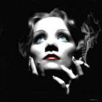 Marlene Dietrich Portrait #1 Large Size Painting