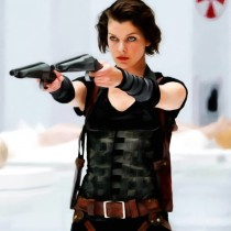 Milla Jovovich @ Resident Evil Large Size Painting
