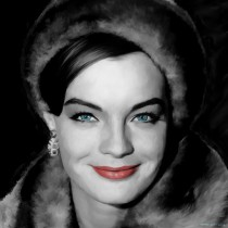 Romy Schneider Portrait #1 Large Size Painting