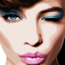 Wink - Pretty Faces Series #1 Large Size Digital Painting