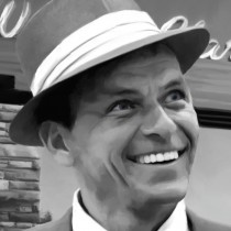 Detail of Frank Sinatra in Las Vegas - Large Size Painting