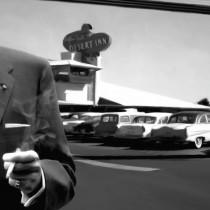 Detail of Frank Sinatra in Las Vegas - Large Size Painting