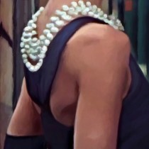 Detail of Breakfast at Tiffany's #2 Large Size Digital Painting