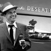 Frank Sinatra in Las Vegas - Large Size Painting