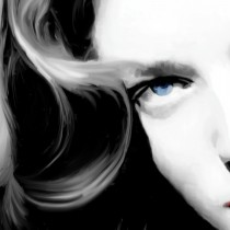 Detail of Lauren Bacall Portrait #2 Large Size Painting