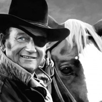John Wayne @ True Grit #1 Large Size Painting
