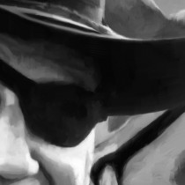Detail of John Wayne @ True Grit #1 Large Size Painting