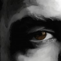 Detail of Marlon Brando Portrait #1 Large Size Painting