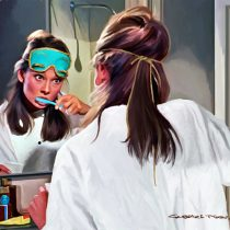 Breakfast at Tiffany's #5 Large Size Painting